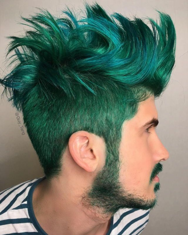 Pin By Meka G On Colorful Hair Cheveux Verts Coiffure