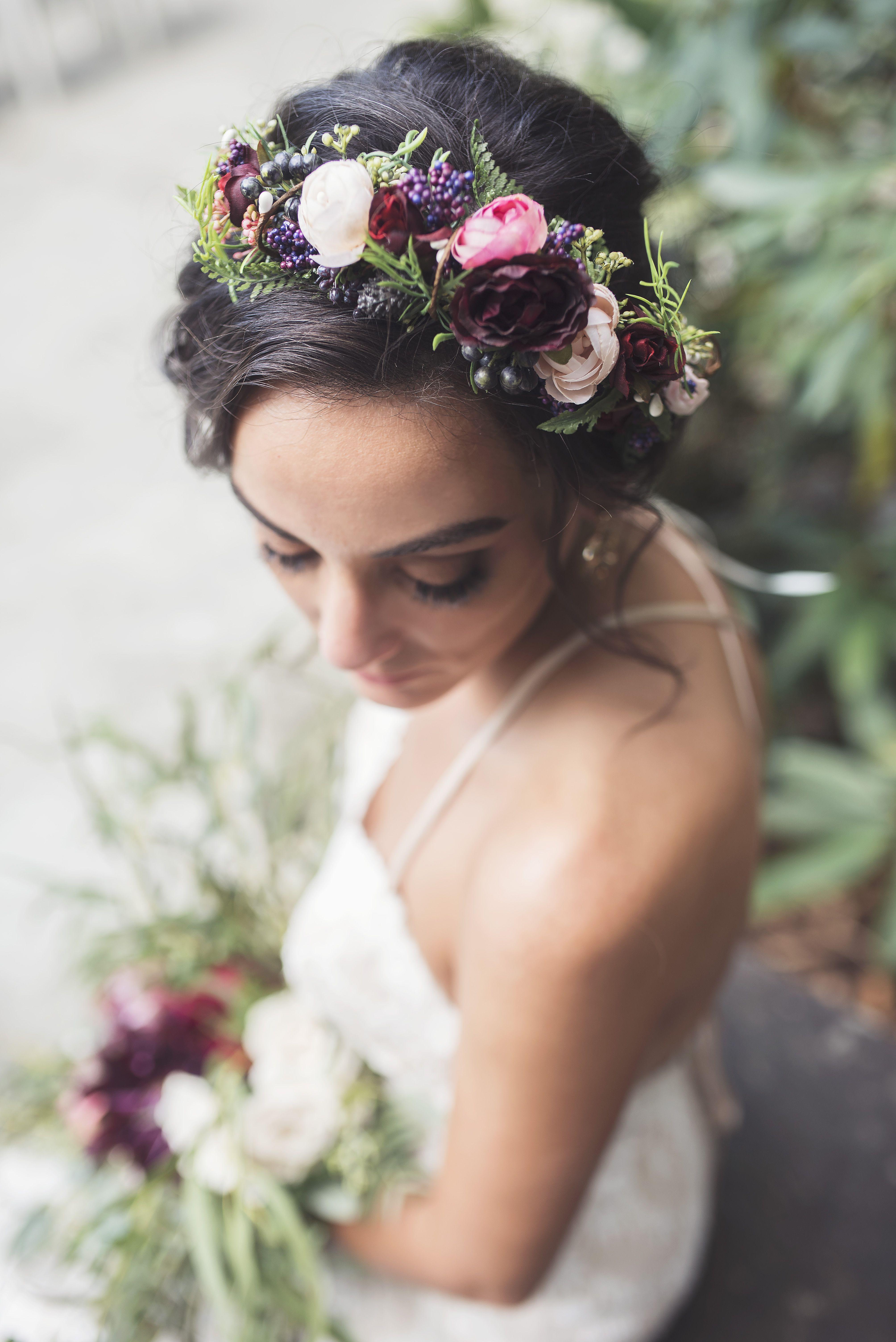 Boho wedding flower crown wedding photography pinterest boho boho wedding flower crown izmirmasajfo Images