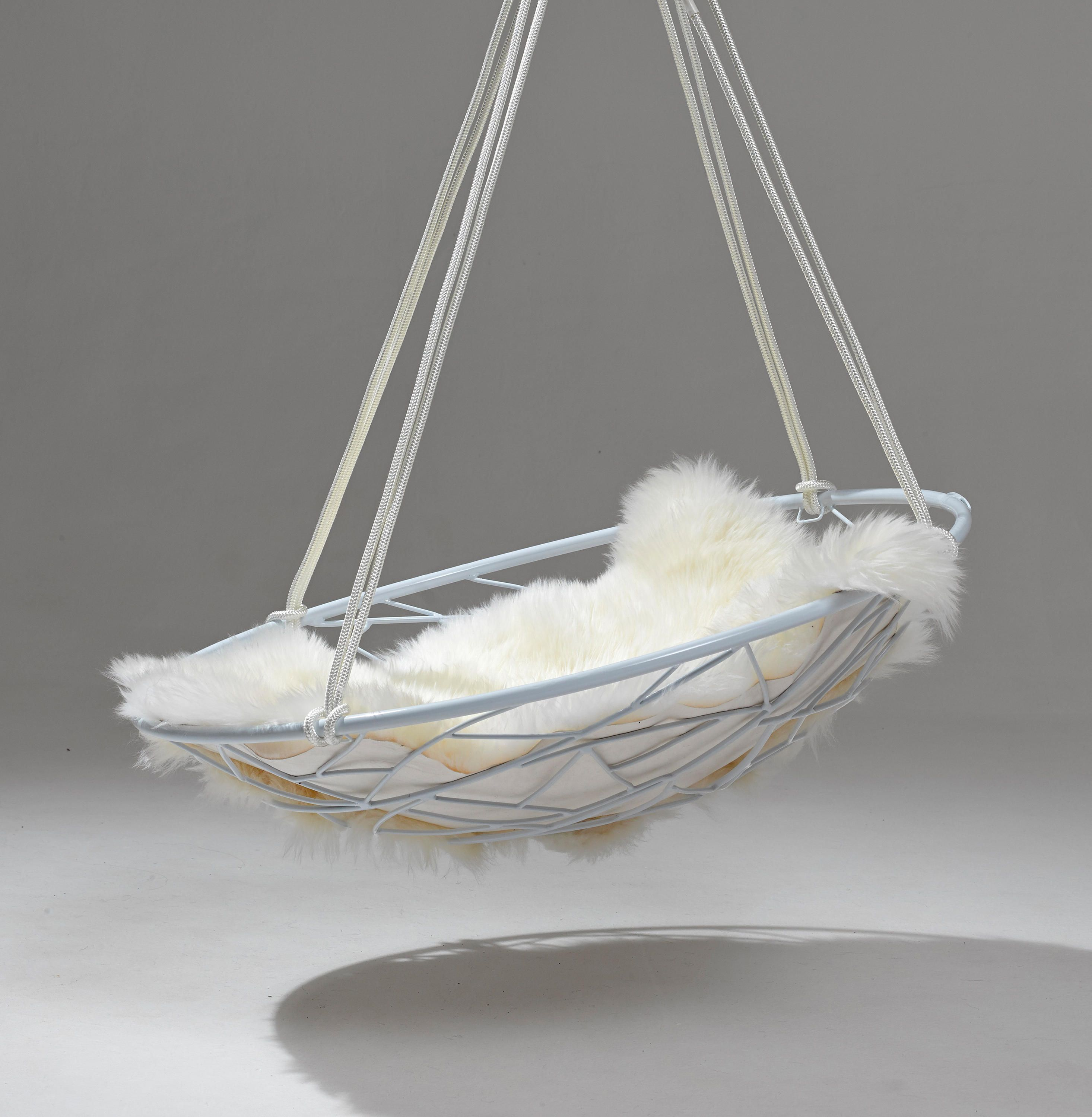 Basket twig hanging swing chair by studio stirling garden chairs