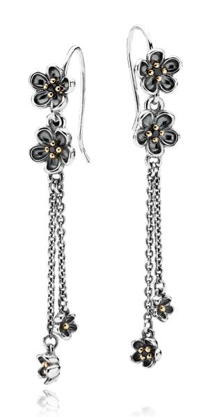 Capri Jewelers Arizona ~ www.caprijewelersaz.com PANDORA earrings with flowers for a spring look