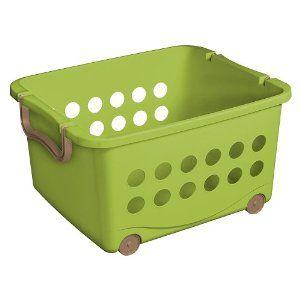 Sterilite Wheeled Stacking Baskets Target Storage Bins