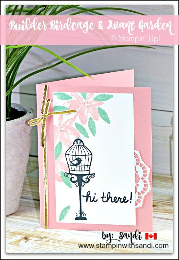 Builder Birdcage And Avant Garden Sandi Maciver Cardmaking And Papercrafting Made Easy Greeting Card Craft Cardmaking Hand Stamped Cards