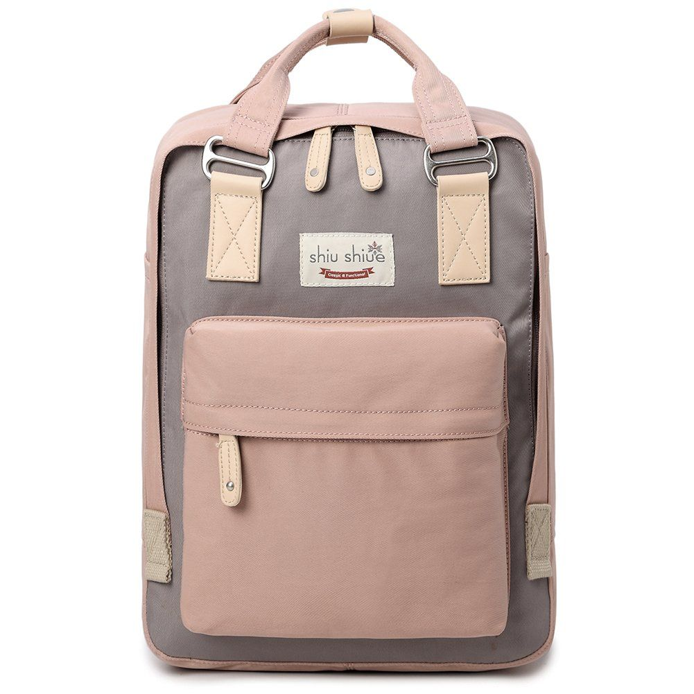 5c6153120a0 Water-resistant School Backpack Girls Women Travel Bag fits 14inch Laptop  for Student (Pink01)