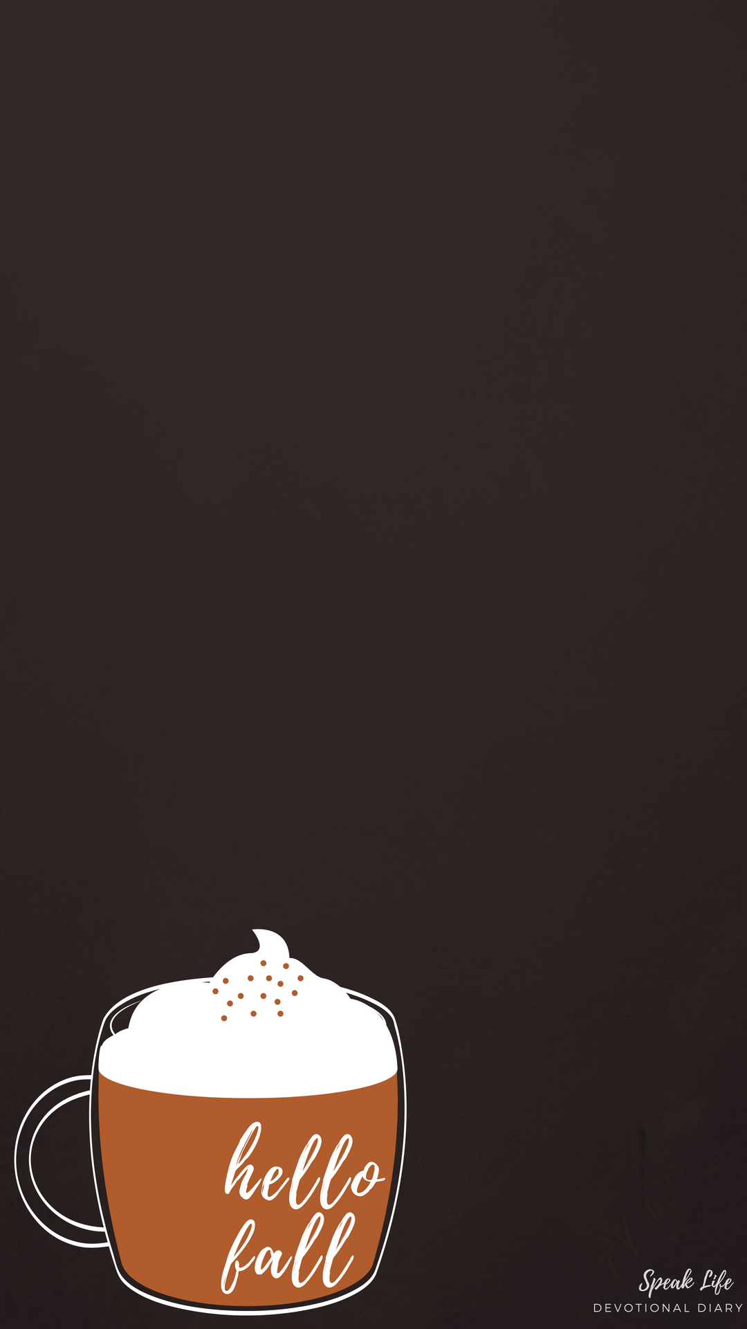 Hello Fall Pumpkin Spice latte phone background #hellofall