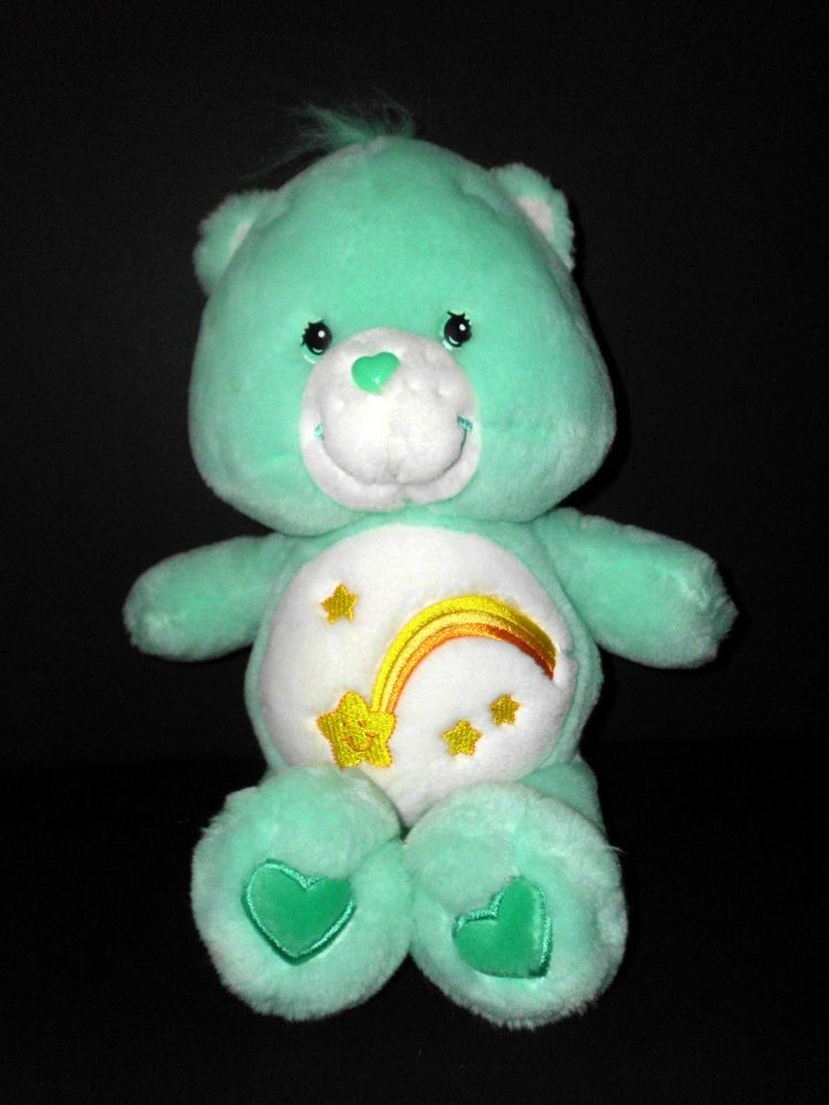Care Bear Wish Bear Plush Stuffed 13 Quot Green With Shooting