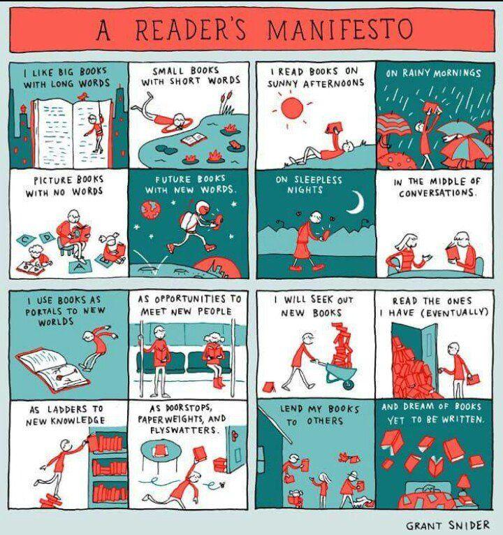 A Reader's Manifesto! Sound familiar?