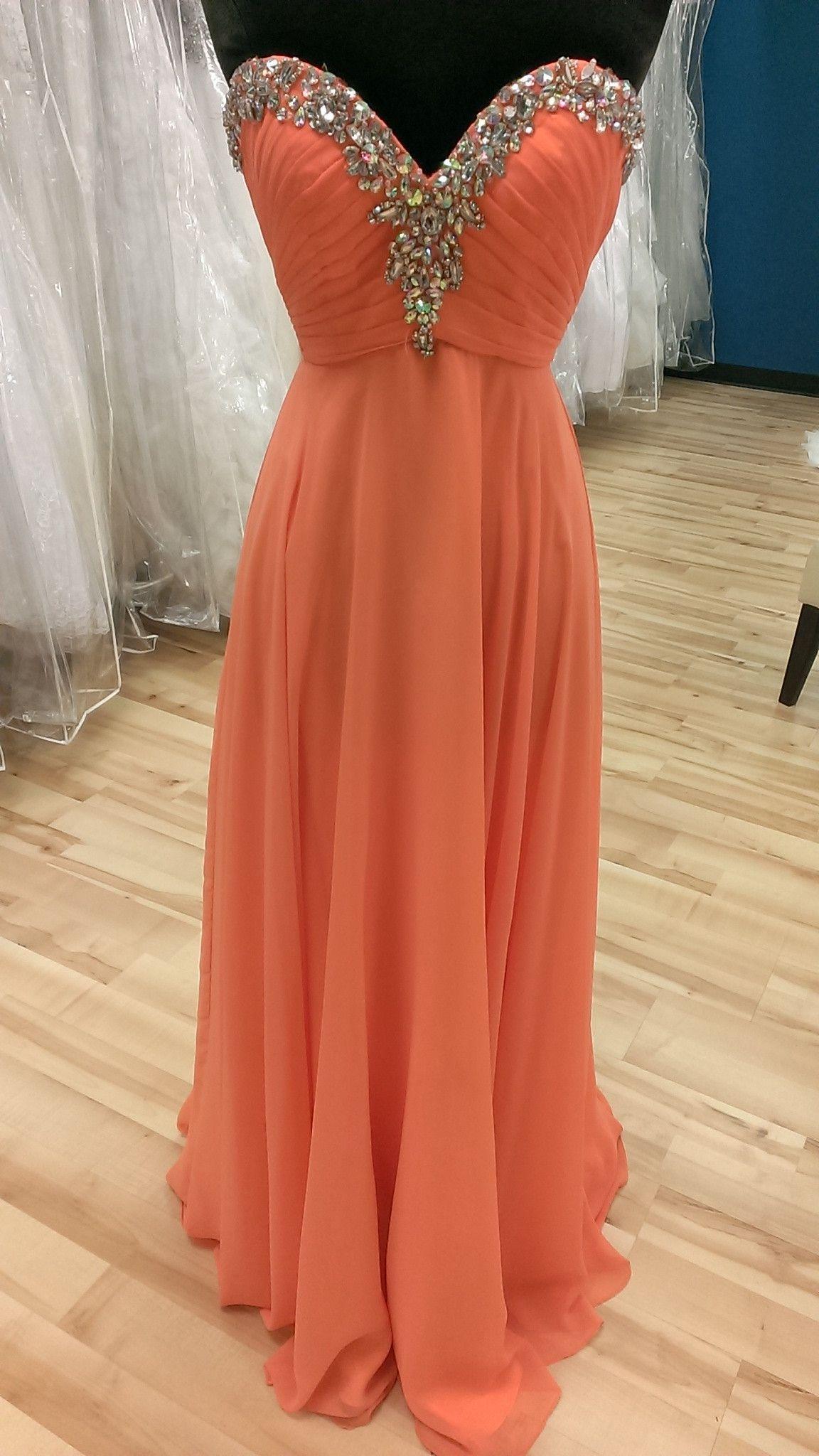Citrus Orange Prom Dress