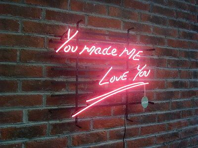 New You Made Me Love You Home Bar Neon Sign Wall Decor Art 24 Quot X20 Quot Neon Signs Wall Signs Wall Art Decor