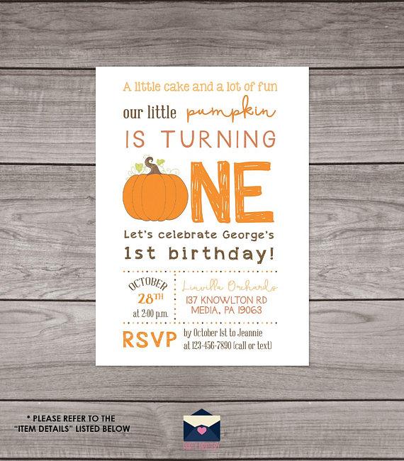 Pumpkin first birthday invitation fall pumpkin 1st birthday first pumpkin first birthday invitation fall pumpkin 1st birthday filmwisefo