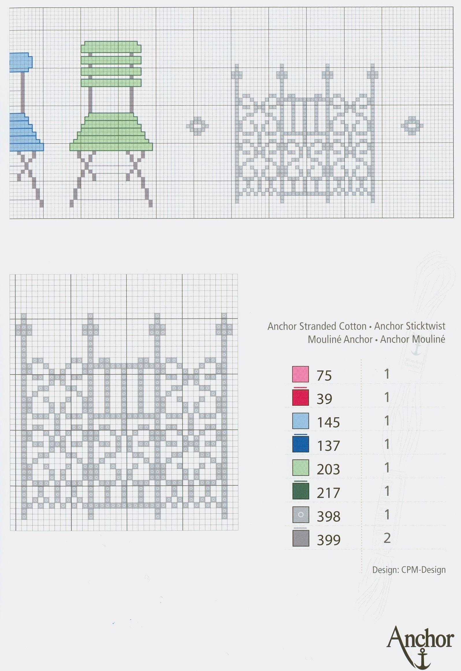 Cute chairs (part 2) free cross stitch pattern from www.coatscraft ...