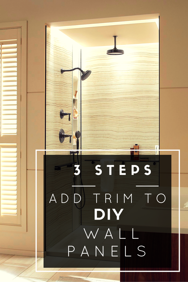 3 Steps to Add Trim and Borders to DIY Shower Wall Panels ...