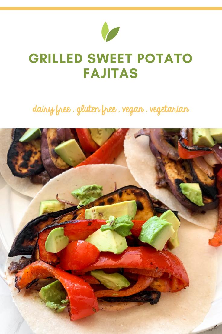 Grilled Sweet Potato Fajitas Inspiralized Healthy Veggie Forward Recipes With A Bit Of Motherhood Realness Recipe Grilled Sweet Potatoes Fajitas Inspiralized Recipes