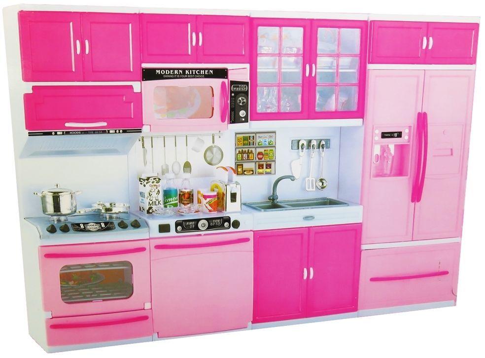 Cocina De Muñecas Para Barbies Juguete Muñeca Habitación Infantil