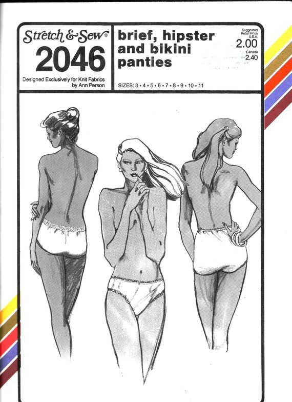 431de1289 Panties Pattern Stretch   Sew 2046 Ladies Hipster Brief Bikini Lingerie  Underwear Size 3 4 5 6 7 8 9