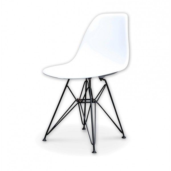 Replica Eames Eiffel Dining Chair With A Black Base