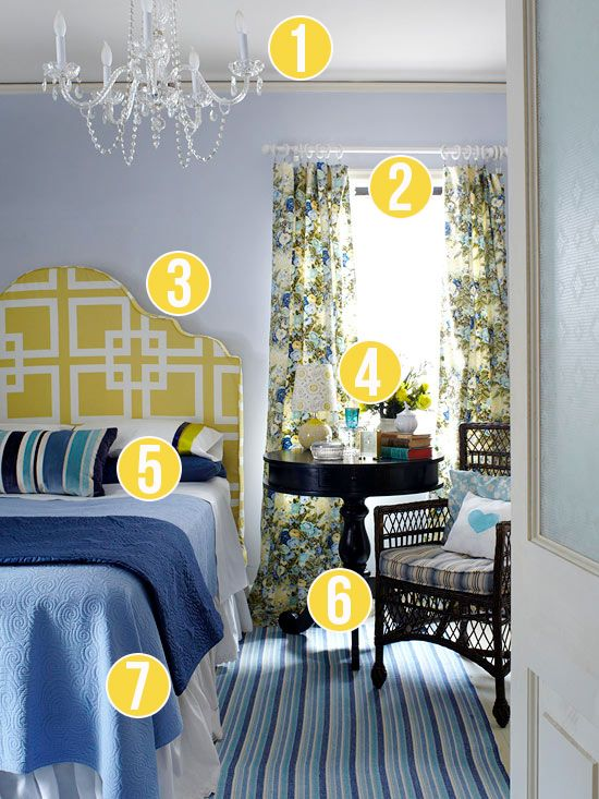 Get This Look - Mixed Patterns in the Master Bedroom - 7 tips from Remodelaholic.com #master_bedroom #tips #patterns