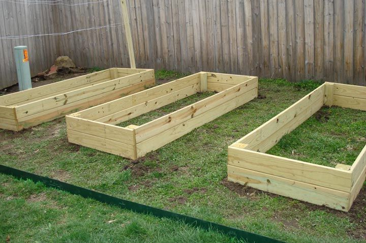 We Made Three 8x3 Raised Beds From Pressure Treated Wood Is And Easy To Use Put Together In An Hour So It Was