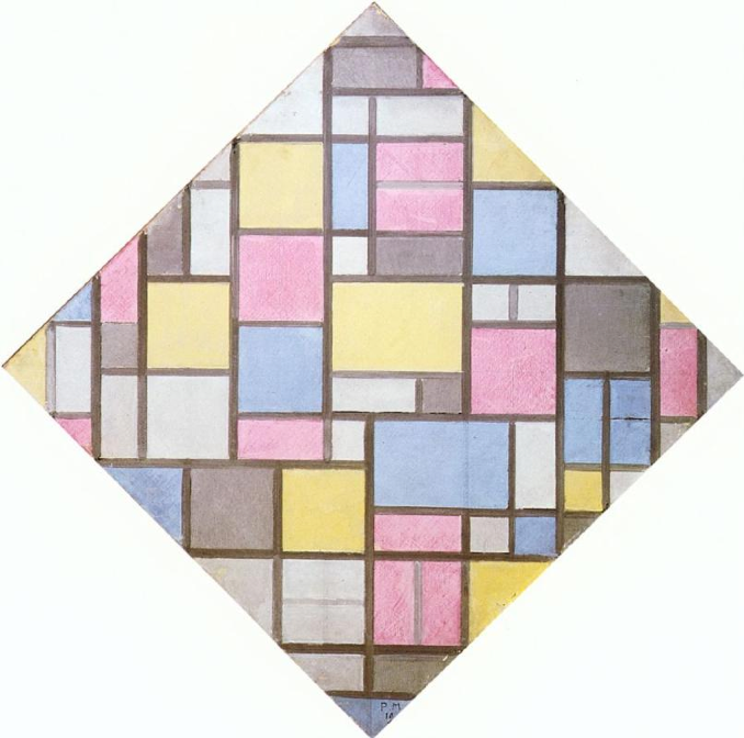 Composition With Grid VII | Piet Mondrian | 1919 davidcharlesfoxexpressionism.com #pietmondrian #abstractimpressionism #postimpressionism #impressionism #abstractart #abstract #expressionism #painting #oilpainting #dutchpainter #compositionwithgridVII