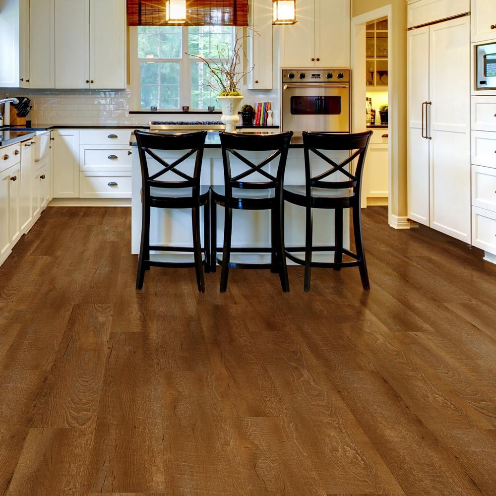 Trafficmaster Allure Ultra 7 5 In X 47 6 Sawcut Arizona Luxury Vinyl Plank Flooring 19 8 Sq Ft Case 541115 The Home Depot