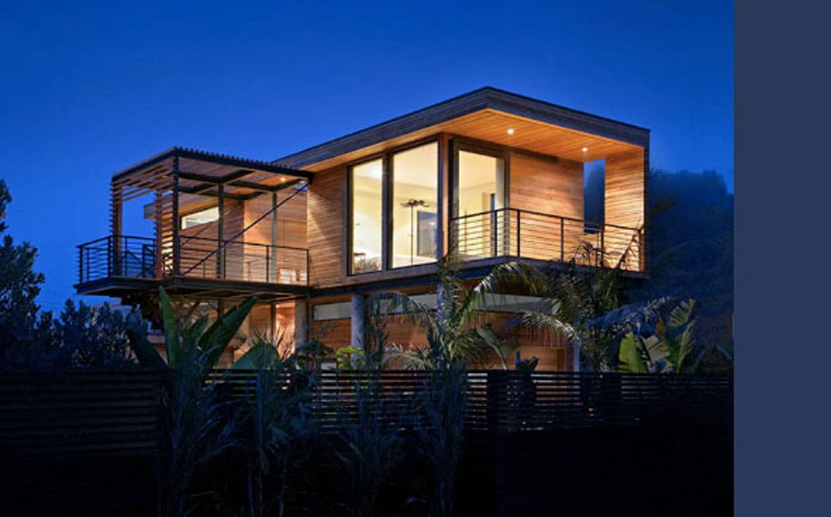 tropical beach house modern design visit rustic wood railing at