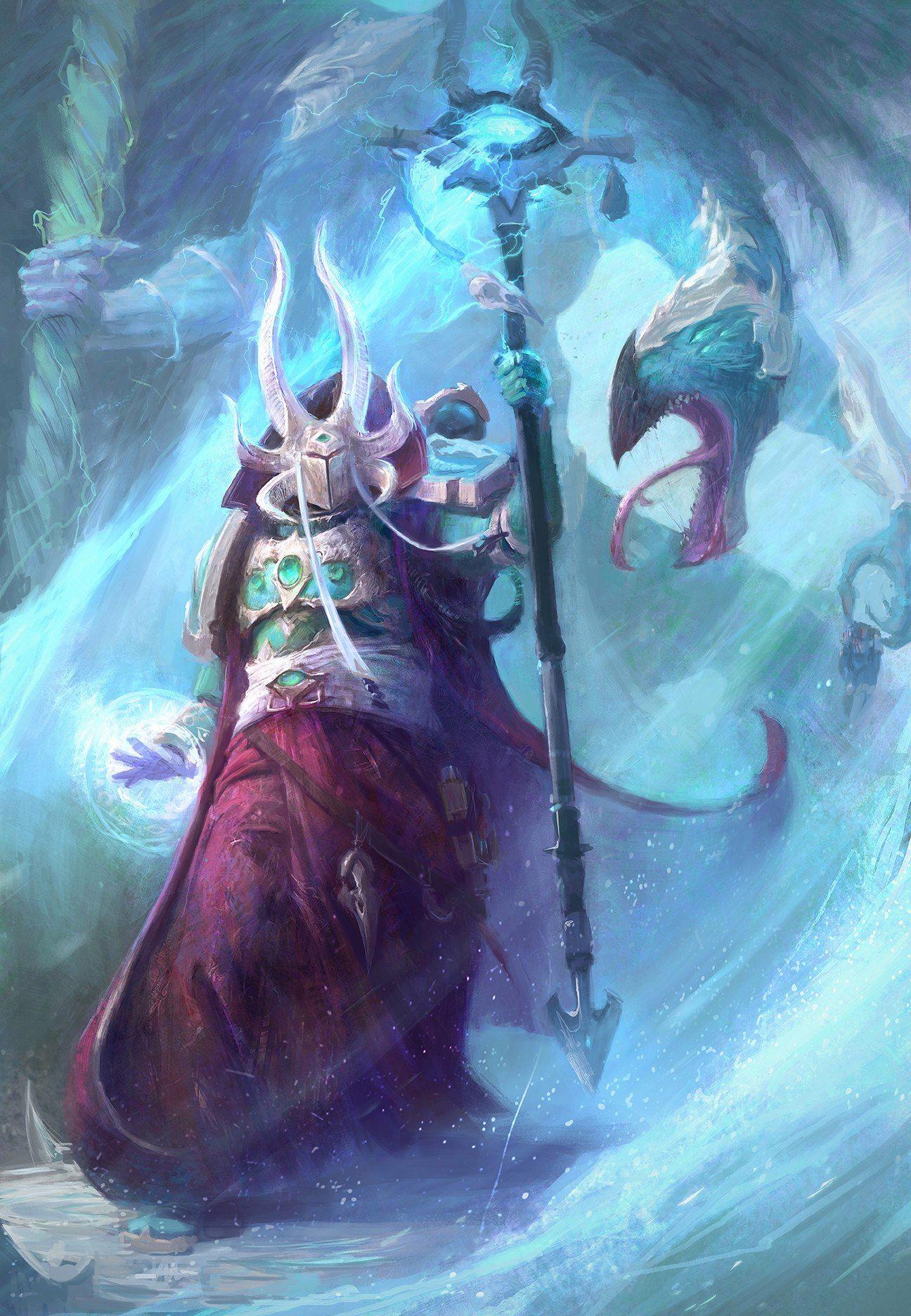 Thousand Sons Ahriman sorcier de Tzeentch warhammer 40k