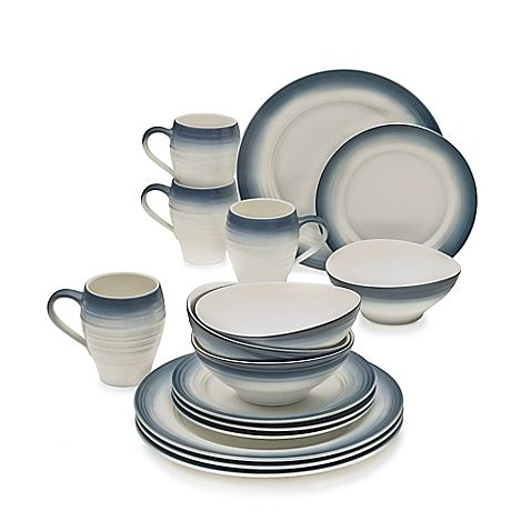 Mikasa® Swirl Ombre 16-Piece Dinnerware Set in Blue