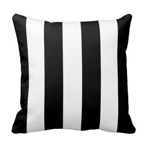 Black Awning Stripe Throw Pillow Zazzle Com Throw Pillows Designer Throw Pillows