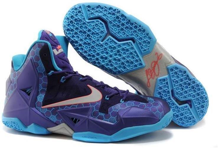 Nike Lebron 11 Hornets Purple Blue Pink