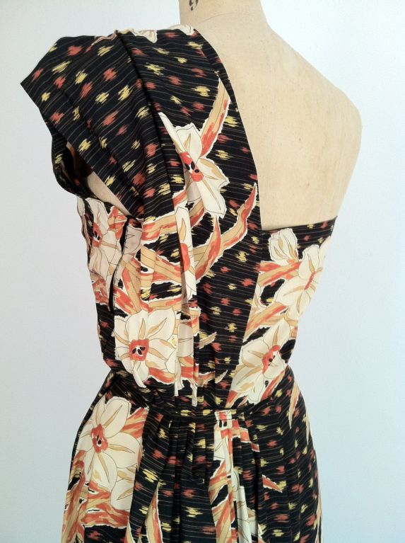 Hawaiian Silk Dress 1940s