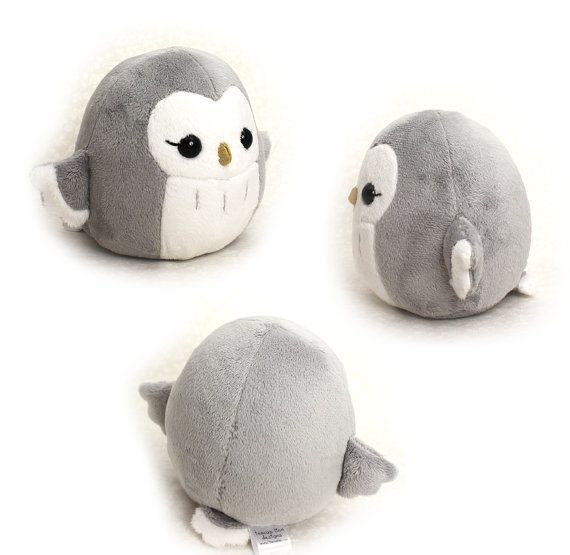 PDF sewing pattern - Owl plush toy - easy kawaii stuffed animal cute ...