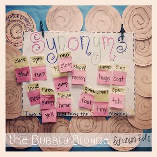 The Bubbly Blonde: Synonym Rolls | Top Teachers Smorgasboard
