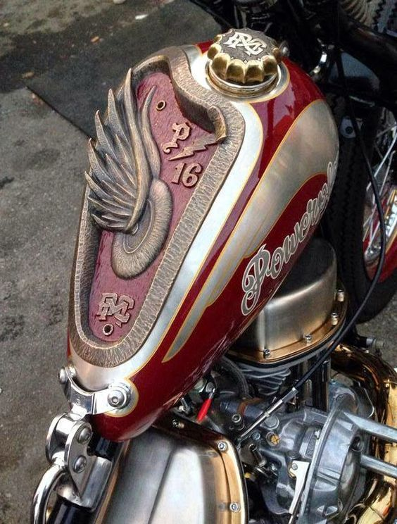 Pin By Shawn Bennett On Tanks Motocicleta Chopper Motos