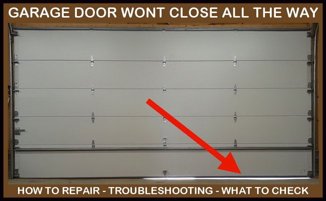 Garage Door Will Not Close All The Way Leaves Gap At Bottom