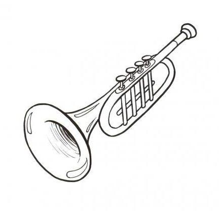 Menta Mas Chocolate Recursos Y Actividades Para Educacion Infantil Dibujos D Dibujos De Instrumentos Musicales Notas Musicales Para Imprimir Trompeta Dibujo