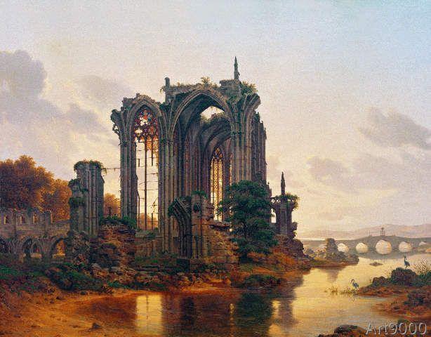 Carl Georg Adolph Hasenpflug - Blick auf eine gotische Ruine