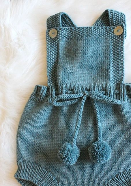 Hand Knitted Baby Romper | Etsy