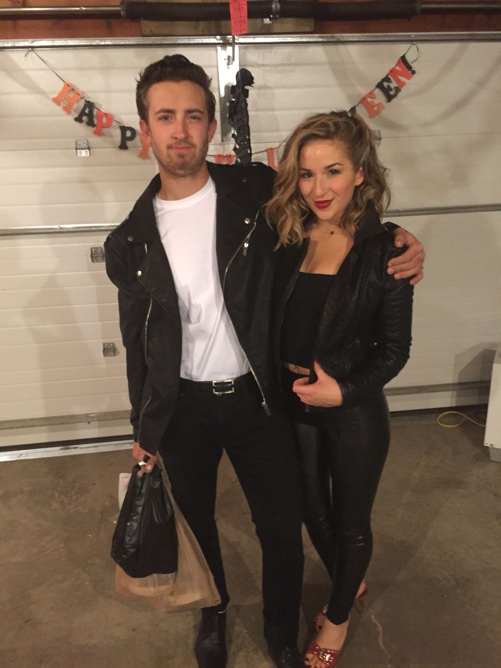 danny and sandy from greece for halloween t birds diy costume