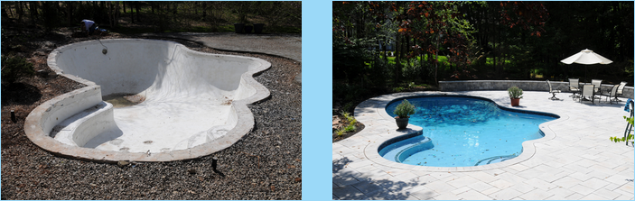 Our renovation division can update your shabby, old pool