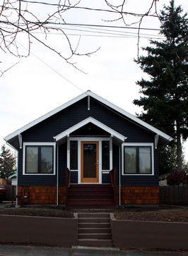 Dark Blue Exterior Design Ideas Pictures Remodel And Decor Black House Exterior House Designs Exterior House Exterior