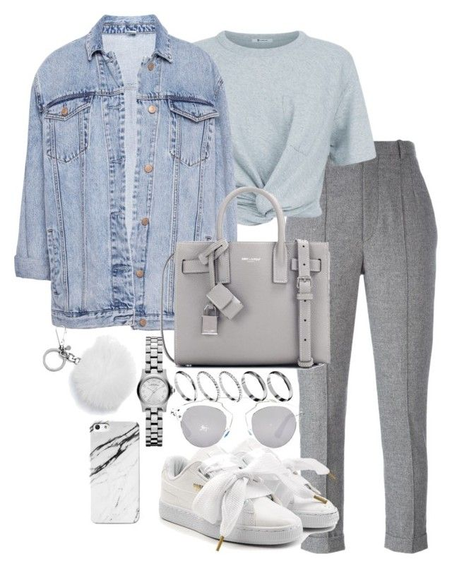 """Untitled #3337"" by theeuropeancloset on Polyvore featuring Isabel Marant, T By Alexander Wang, Pull&Bear, Puma, Yves Saint Laurent, ASOS, Christian Dior, Michael Kors and Case Scenario"