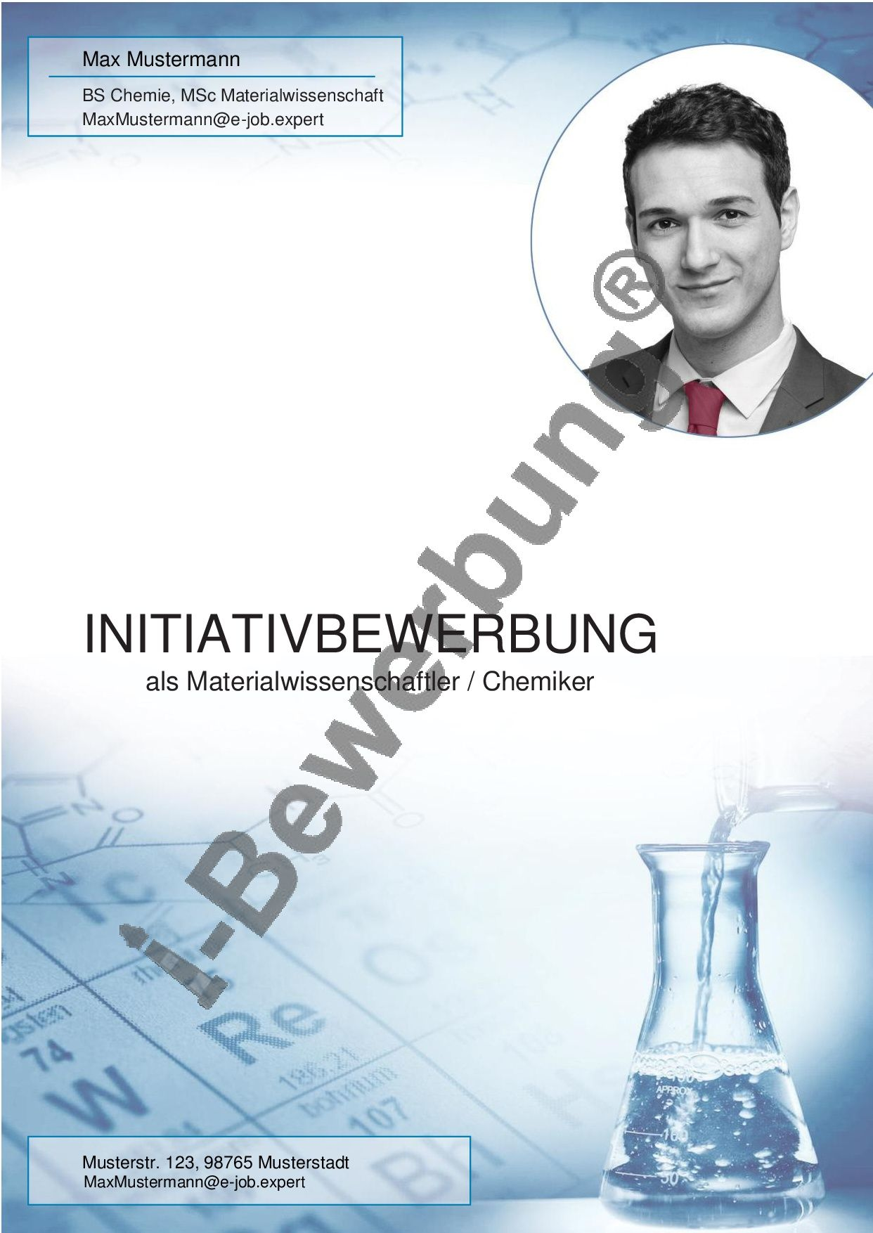 Selbstprasentation Auf Dem Deckblatt Zur Initiativbewerbung Bewerbung Deckblatt Vorlage Deckblatt