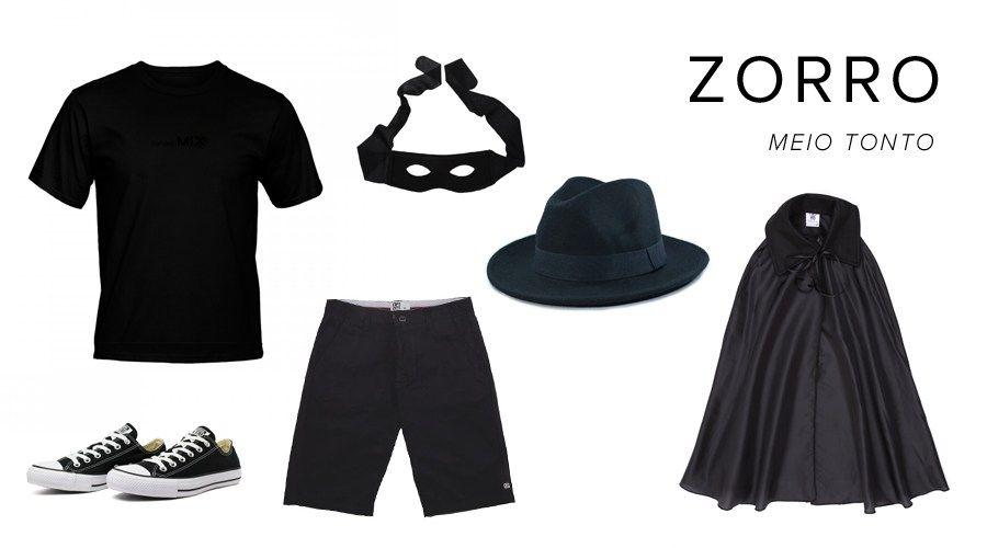 Esqueceu Da Fantasia Zorro Fantasia Homem Masculina Homens