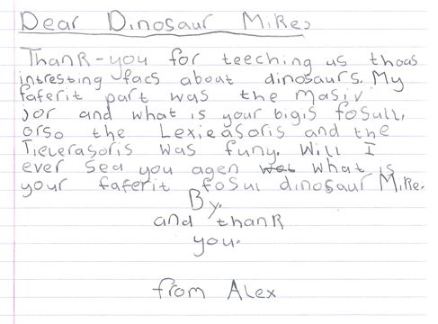 Everything Dinosaur Receives A Thank You Letter From A Pupil A