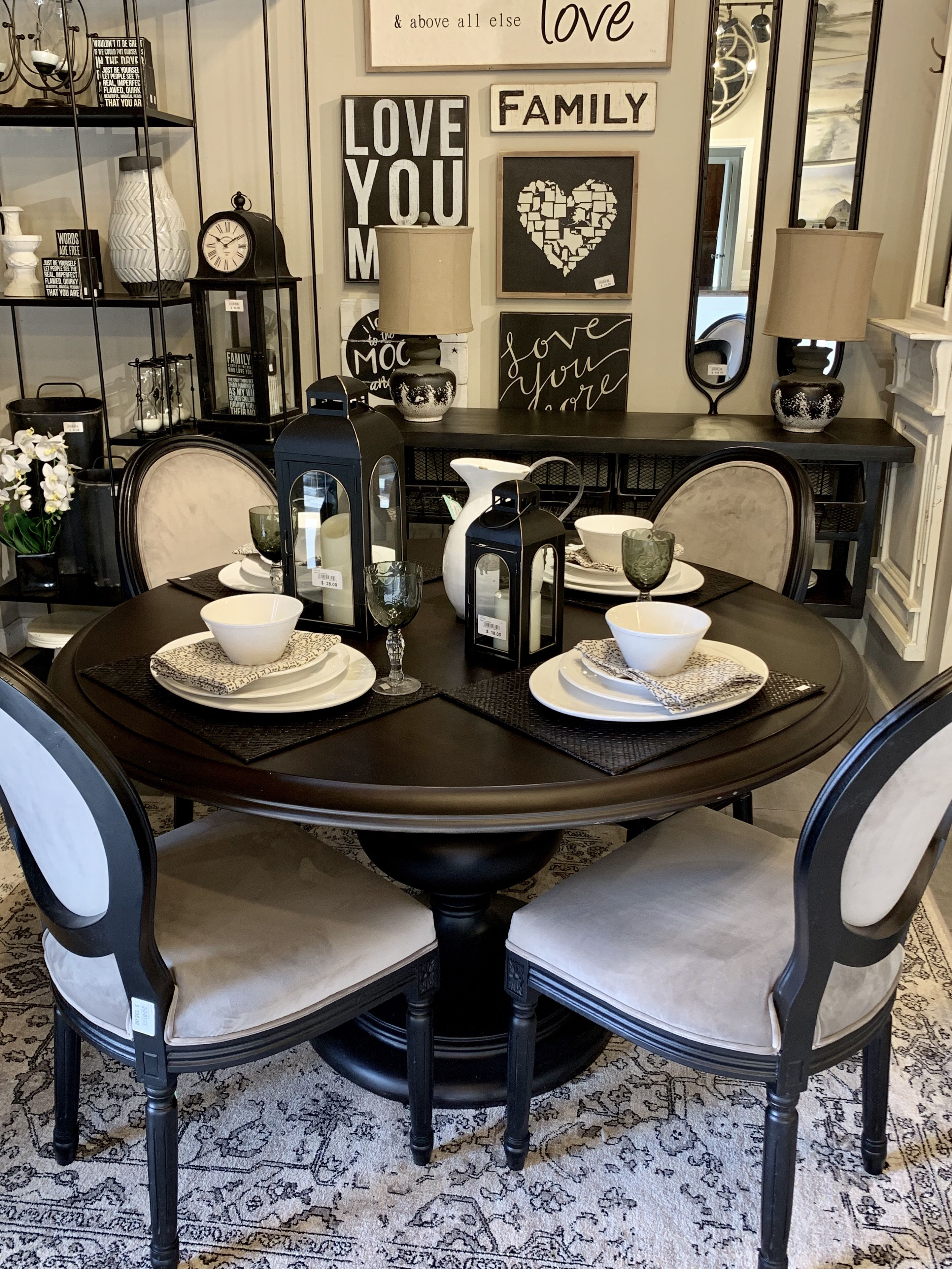 Black Friday Is Coming Black Round Dining Table Dining Table Black Black Kitchen Table