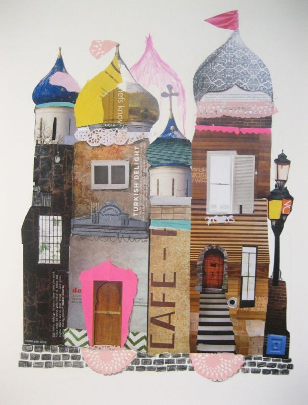 Use magazine cutouts to construct a paper castle  #ad