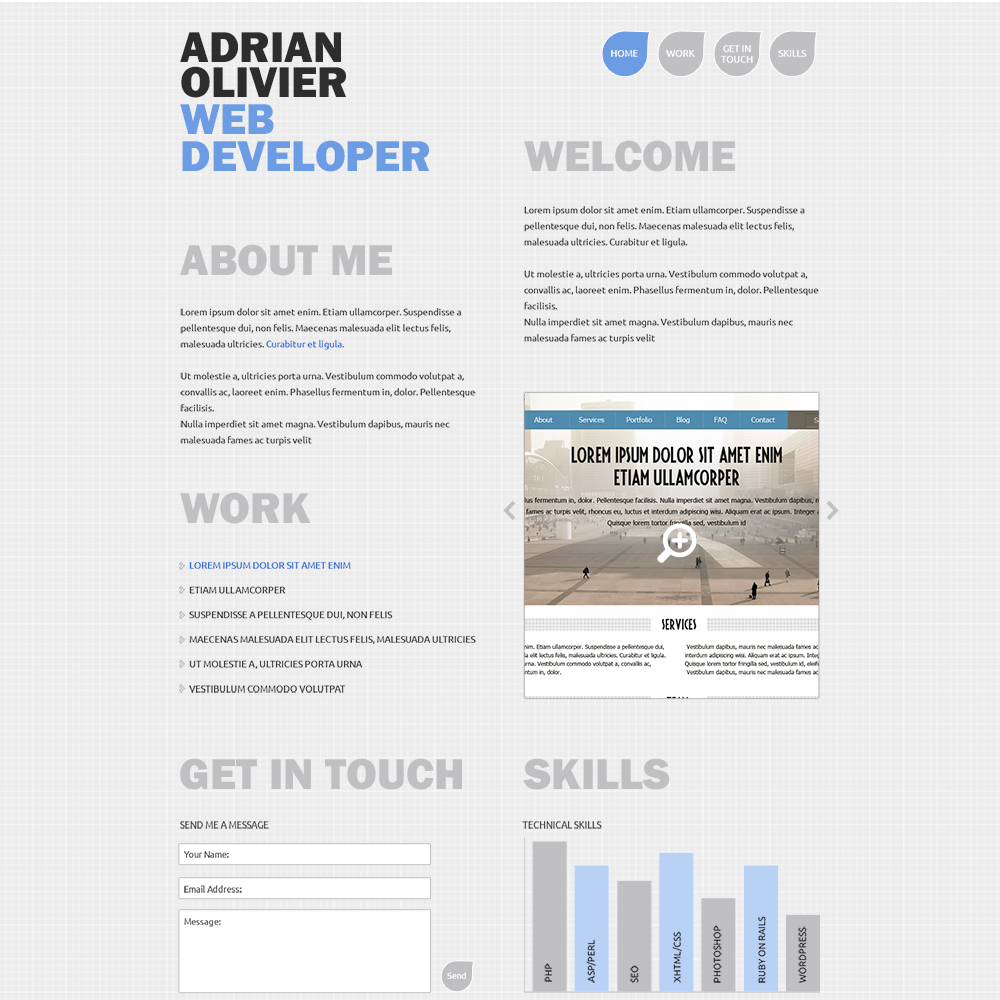 Web Developer Resume Sample Portfolio Resume Sample Cover Letter Web Designer Template Free