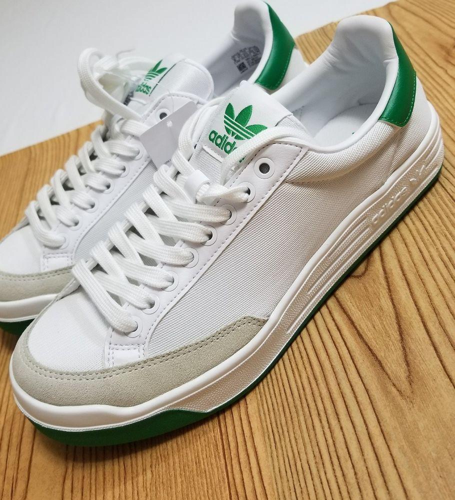 Adidas Rod Laver Super Shoes NEW Men's White Fairway Green