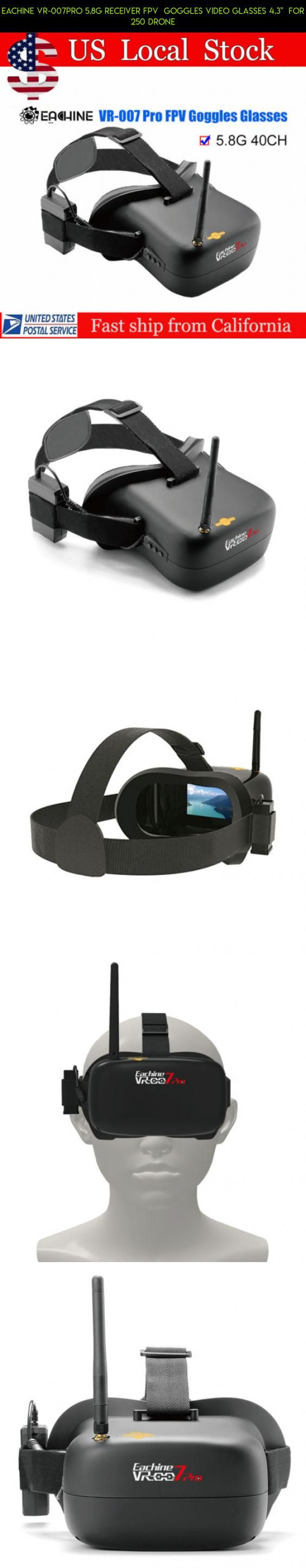 "Eachine VR-007PRO 5.8G Receiver FPV  Goggles Video Glasses 4.3""  For 250 Drone #parts #fpv #gadgets #drone #plans #007 #kit #camera #shopping #technology #racing #eachine #products #pro #tech"