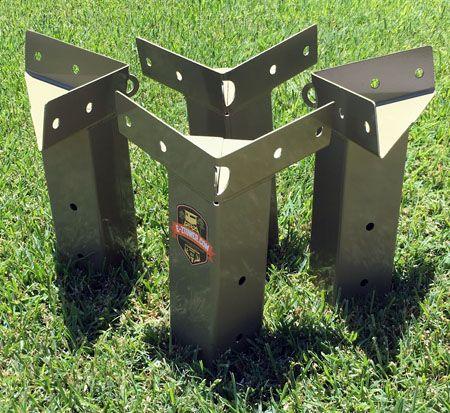 E Z Tower Bracket Set Deer Hunting Blinds Hunting