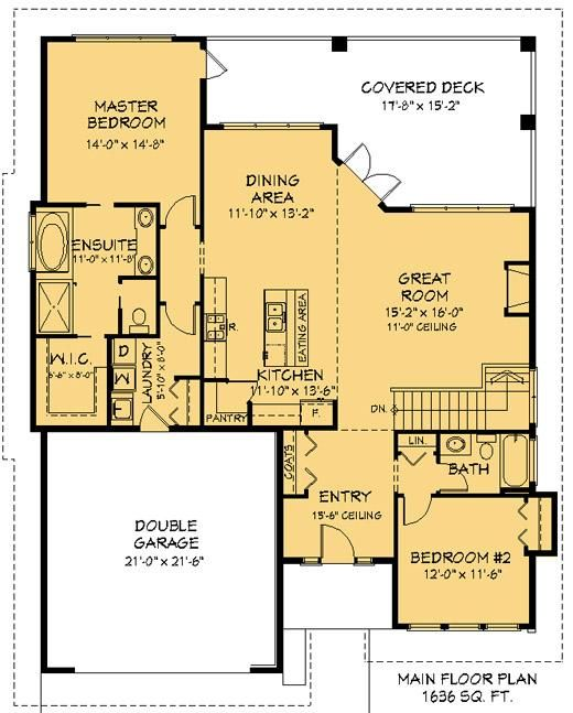Bungalow 4 Bed 3 Bath Lake House Plans New House Plans How To Plan